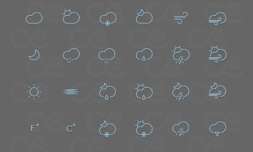 lines weather icons free