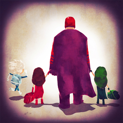 X-men Andry-Shango Super families illustrations