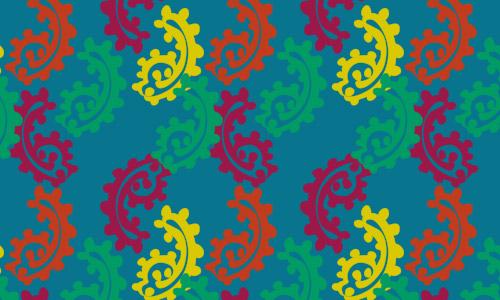 minimal free paisley pattern