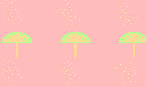 Pink umbrella pattern