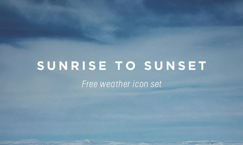 simple weather free icons