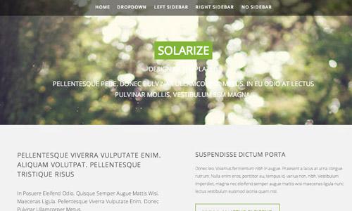 green html5 theme