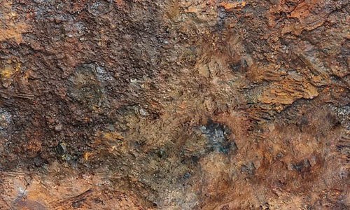 Rough rusty metal texture