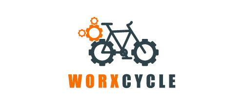 work bicycle logo design