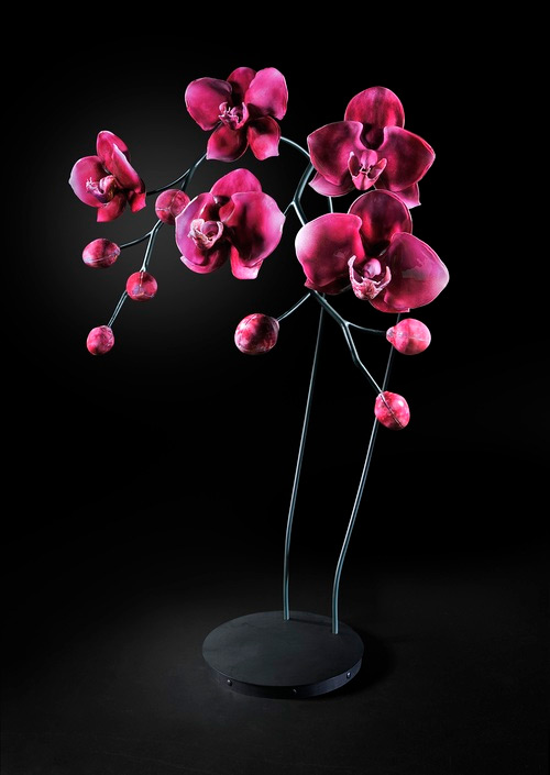 magenta orchids glass art Jason Gamrath featured