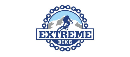 extreme bike logo design