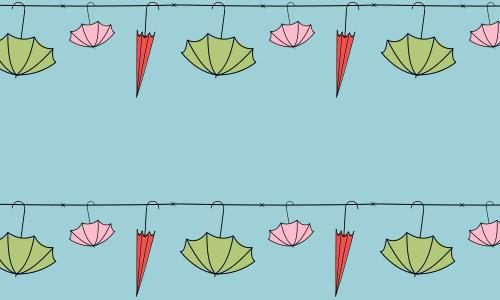 Happy umbrella pattern