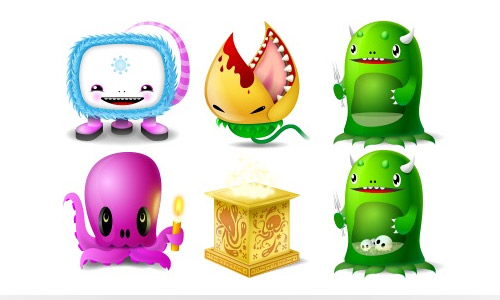 Desktop monster icons