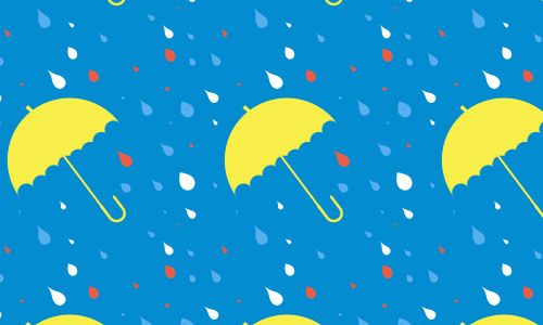 Raining umbrella pattern