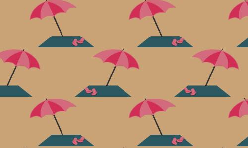 Beach umbrella patterns