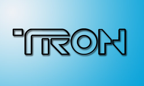 Tron movie fonts