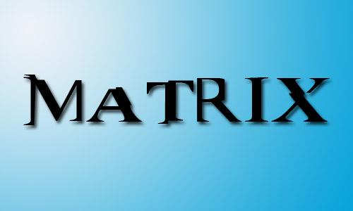 Matrix font movie