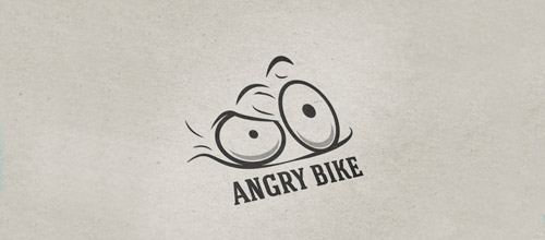 angry bicycle logo design