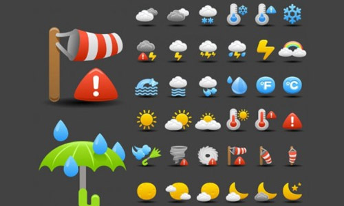 cartoon weather icons