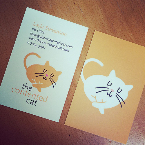 cat business card illustrations