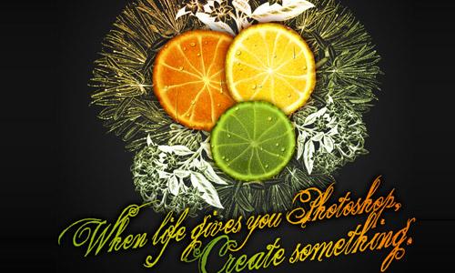 fruit photoshop tutorial