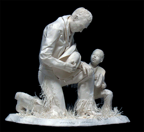 learning to pray cast paper Eckman Fine Art featured