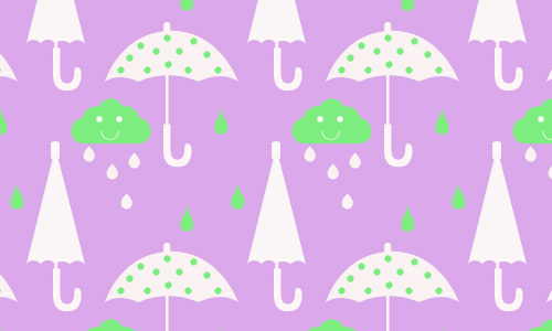 Rainy umbrella pattern free