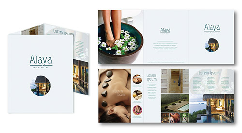 resort brochure designs