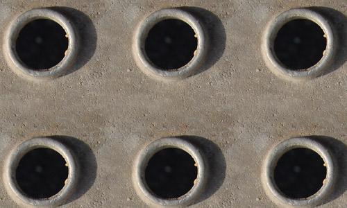 Hole metal texture