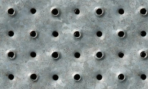 Rough hole metal texture