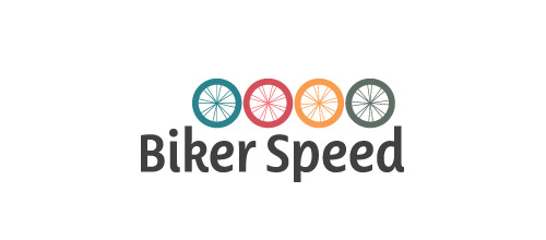 biker speed logo design
