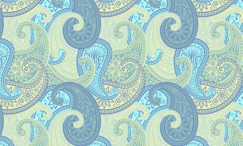 green paisley pattern free