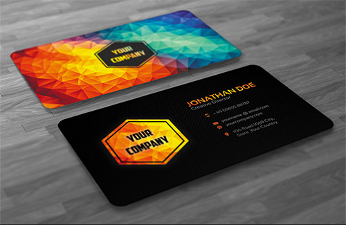 30 graphic design business cards naldz graphics graphic design business card polygon reheart Choice Image