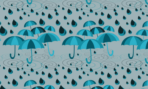 Raindrops umbrella pattern
