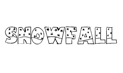 snowfall snow fonts free