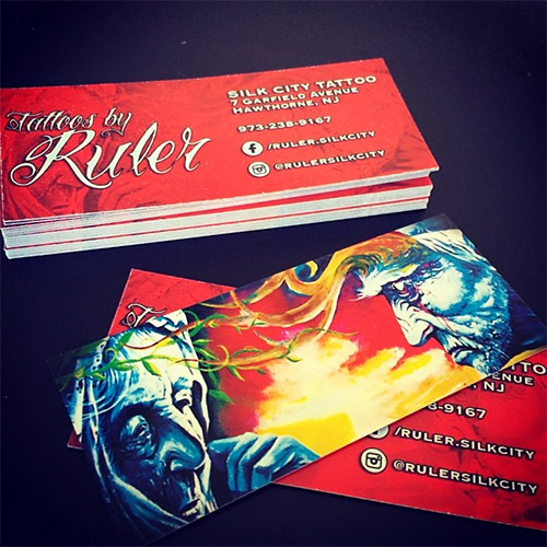 tattoo business cards illustrations