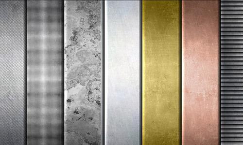 Gradient metal textures