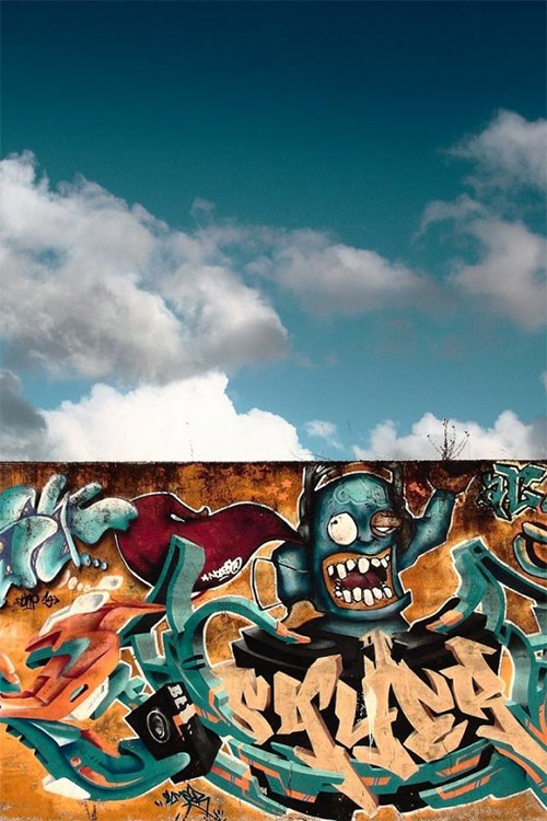 graffiti clouds 4s wallpapers