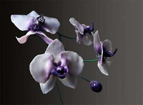 violet orchid glass art Jason Gamrath featured