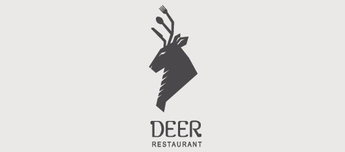 deer restaurant logo design