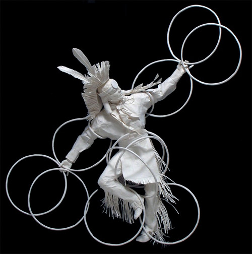 eagle hoop dancer cast paper Eckman Fine Art featured