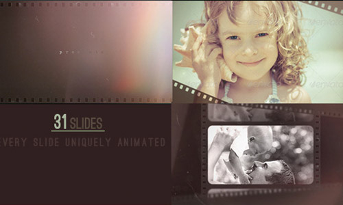 light after effects template vintage