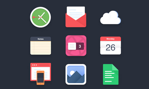 Psd format flat icons free