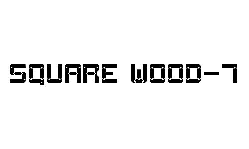 square wood fonts free