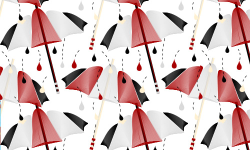 Bloody rain pattern umbrella
