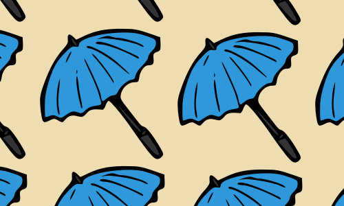 Blue umbrella pattern