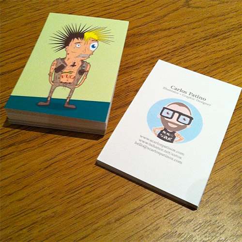 cartoon business card design