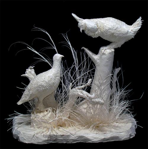 prairie chicken dance cast paper Eckman Fine Art featured