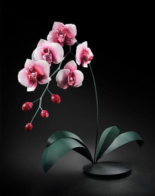 purple orchid glass art Jason Gamrath featured