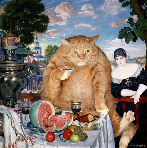 merchant's wife at tea Svetlana Petrova featured