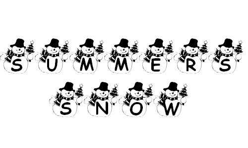 snowman free fonts