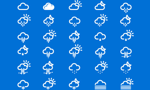 weather climate icons
