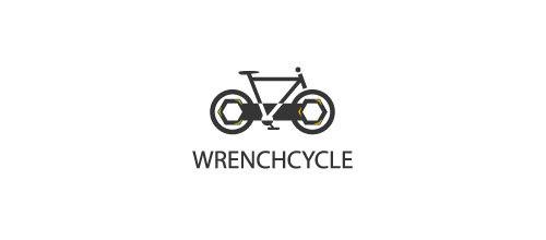 wrench bicycle logo design