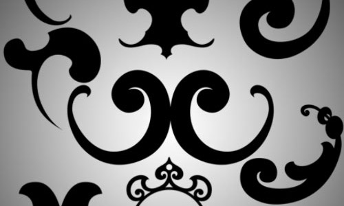 baroque ornament brushes free