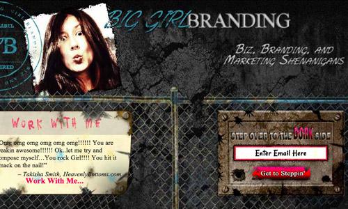 brand grunge site design